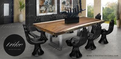 Comedor_Mesa_Tablon_Banca_PAROTA_decoracion_muebles_cuernavaca_interiorismo_natural_organico_raices_cristal_acero