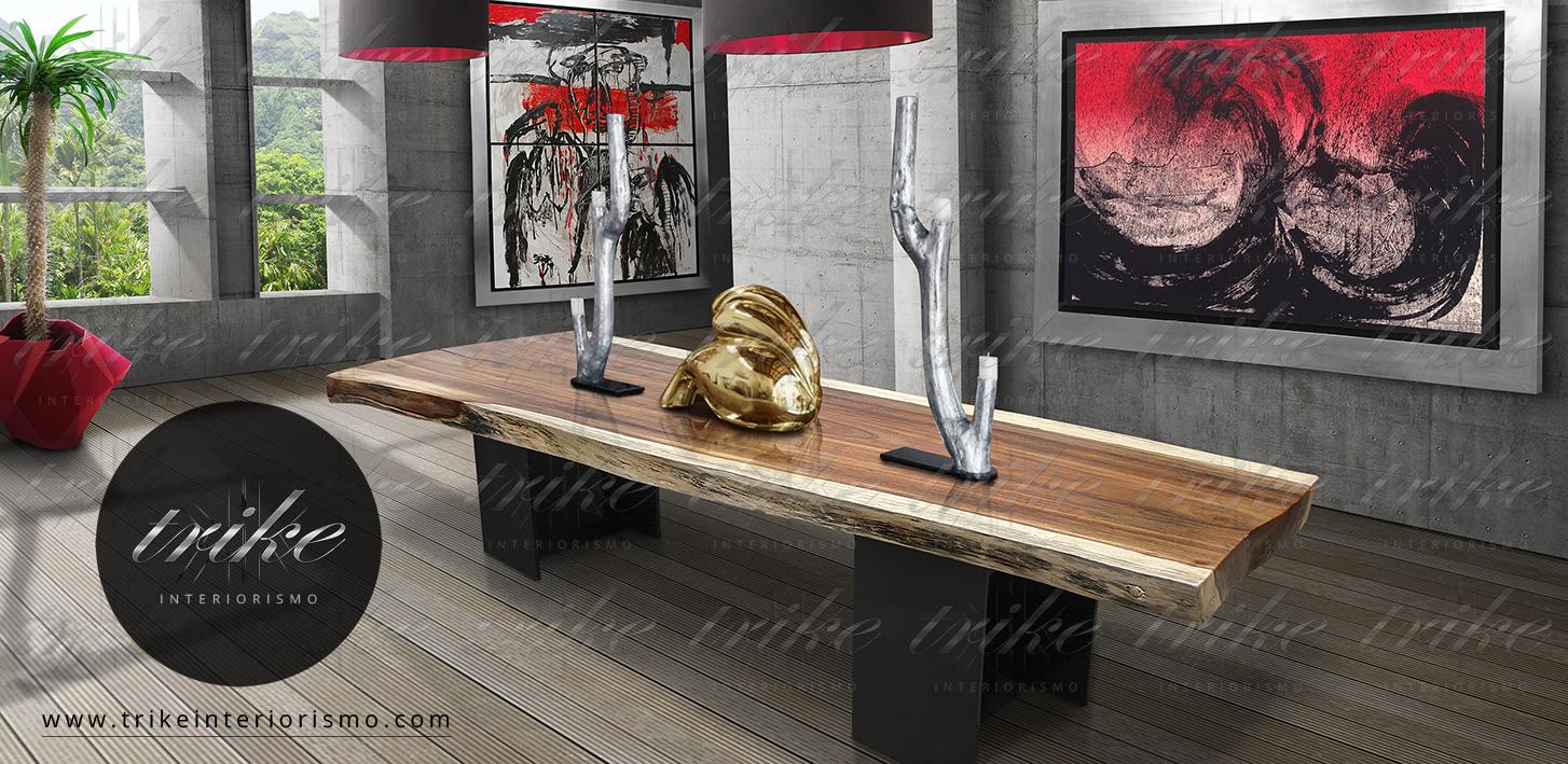 Mesas_tablon_madera_de_parota_base_acero_interiorismo_organico_natural_furniture_organic_mexico_design