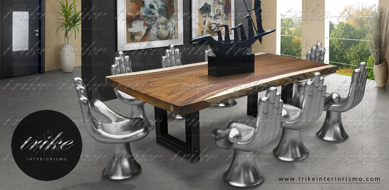Comedor_Mesa_Tablon_Banca_PAROTA_decoracion_muebles_cuernavaca_interiorismo_natural_organico_raices_cristal_acero_1