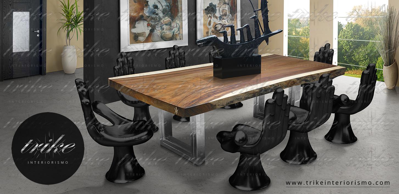 Tabl N De Parota Ii Trike Interiorismo # Muebles Cuernavaca