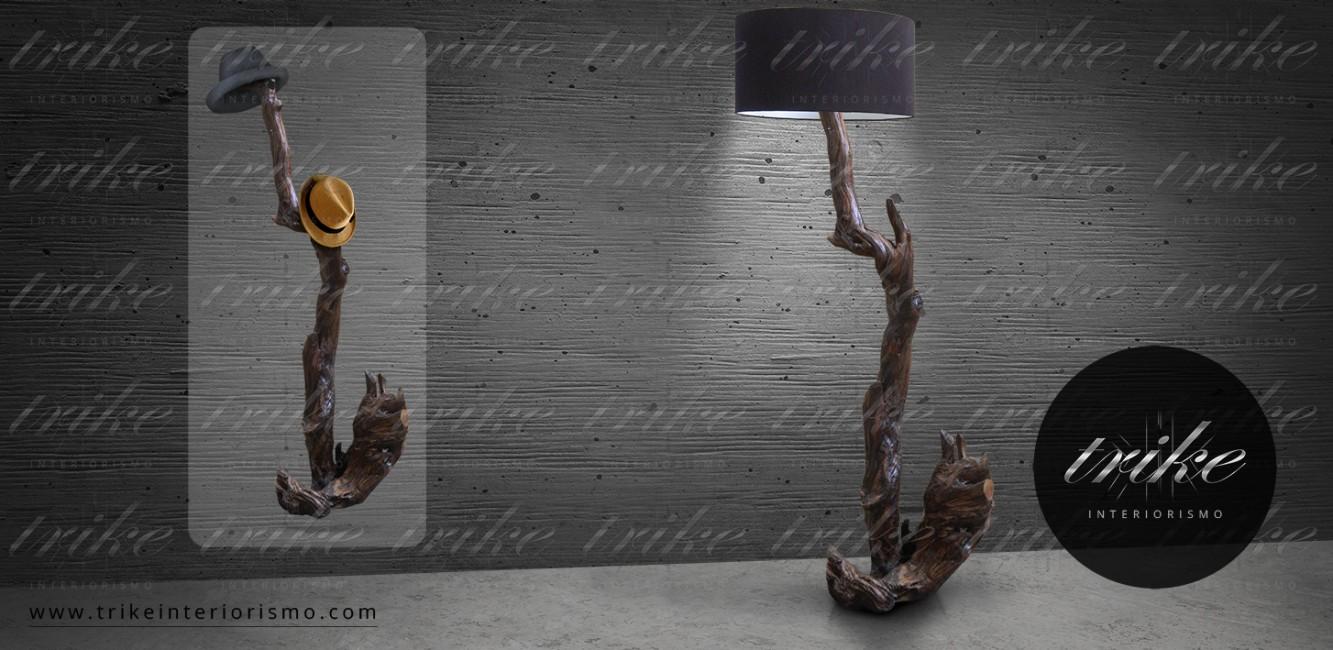 Lampara Perchero_Tepehuaje_Pantalla_PBC_decoraccion_accesorios_interiorismo_natural_organico_maderas_rescatadas_ceciclio_al