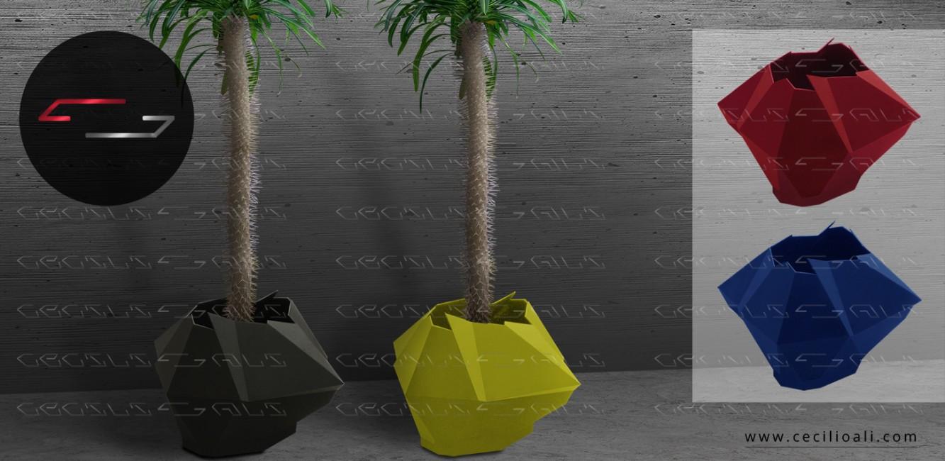 Maceta_contemporanea_accesorios_decoracion_acero_Muebles_Parota_narural_interiorismo_design