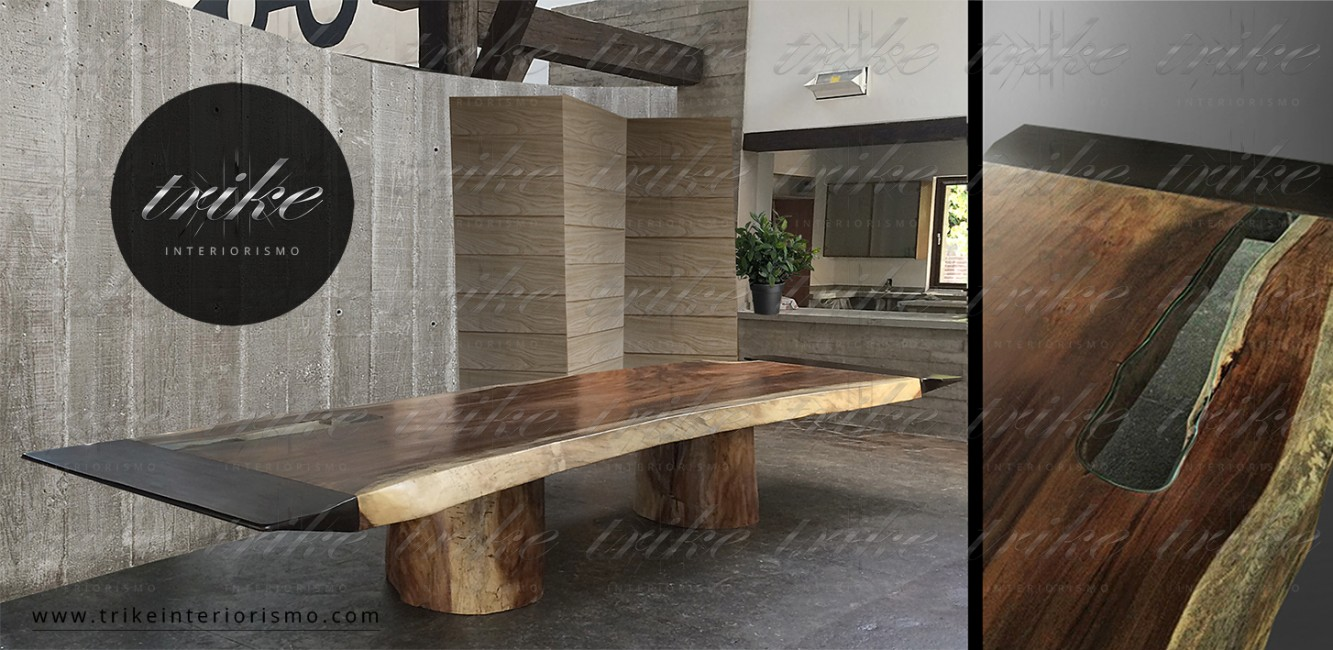 Mesa_Tablon_PAROTA_con_bordes_acero_cristal_interiorismo_natural_muebles_design