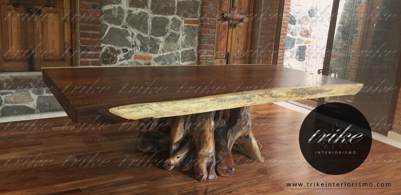 Mesa_Tablon_pedestal_parota_raiz_decoracion_muebles_cuernavaca_interiorismo_natural_organico_raices_guamuchil_tepehuaje